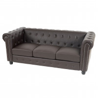 Luksus lounge chesterfield sofa i brun