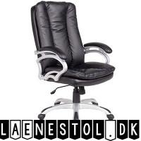 LISSABON KONTORSTOL SORT KUNSTLÆDER