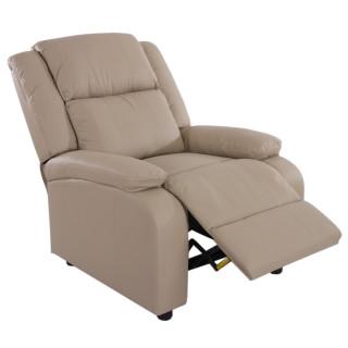 Relax Vienne hvile/lænestol i creme farvet kunstlæder