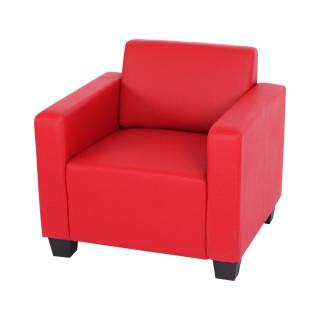 Lyon hvile/loungestol – rødt kunstlæder