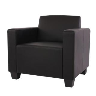 Lyon hvile/loungestol – sort kunstlæder