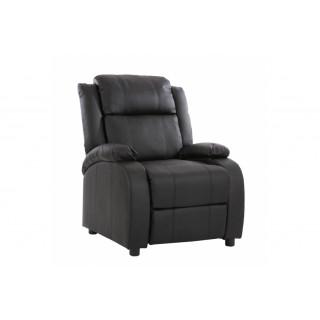 Relax Vienne hvile/lænestol i sort kunstlæder
